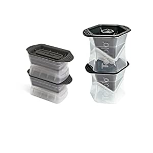 Tovolo Ice Molds Combo Set of Two (2) Colossal Cubes, and Set of Two (2) Highball Molds