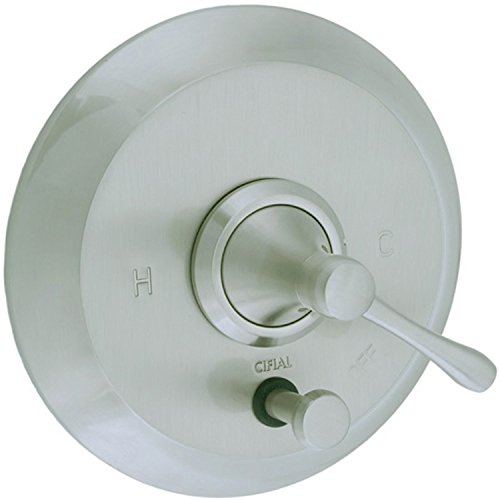 (Cifial 245.611.620 Brookhaven Pressure Balance Shower Valve with Diverter and Lever Handle Trim, Satin)