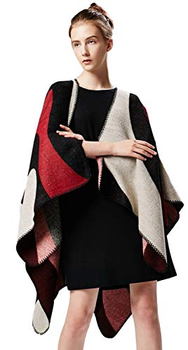 Women Winter knit Reversible Scarves Coat Oversized Blanket Shawl Scarf