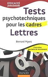 Tests psychotechniques pour les cadres : Lettres