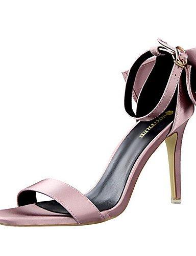 GGX/Damen Schuhe Seide Sommer Heels Heels Casual Stiletto Heel andere schwarz/pink/lila/rot/grau gray-us7.5 / eu38 / uk5.5 / cn38