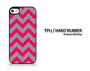 TPU / RUBBER Black Case - Chevron Pattern - Pastel Pattern - iPhone 5C - (C) Andre Gift Shop