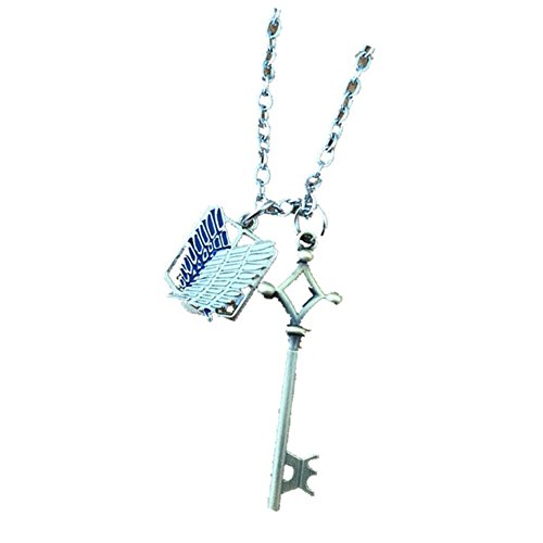 Athena Brands Anime Attack On Titan Key 18 Inch Necklace Gift Box Included ()