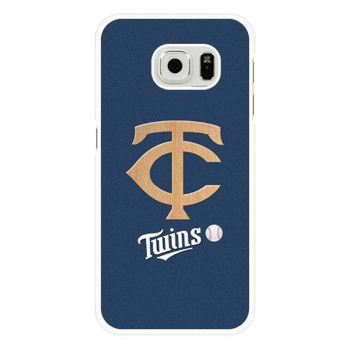 Galaxy S6 Case, Onelee(TM) MLB Minnesota Twins Samsung Galaxy S6 Case [White Hard Plastic]