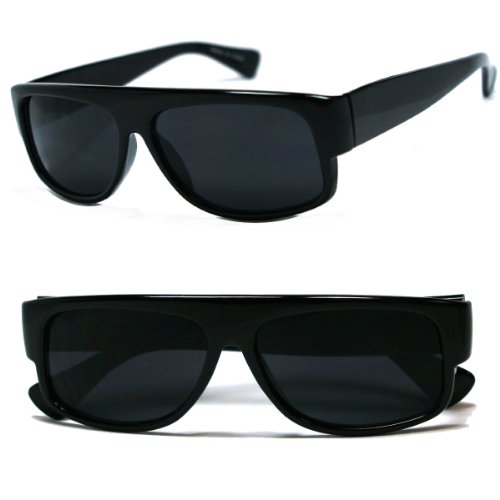 Original OG Mad Dogger Locs Shades Sunglasses w/Super Dark Lens (Black)]()