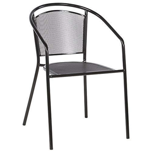 Alfresco Home Martini Cafe Stackable Patio Dining Chair (Set of 4) -