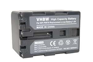 BATErÍA LI-ION con SONY Video Walkman GV-D1000 sustituye NP-FM30, NP-FM50, NP-FM70, NP-FM90, NP-FM91, NP-QM51, NP-QM51D, NP-QM71, NP-QM71D etc.