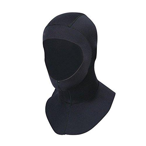 [Sale]Diving Hood,Freehawk 3mm Cold Water Neoprene Hood/Snorkeling Hood/Scuba Diving Hood/Surfing Hat Hood Neck Cover Neoprene Vented Bib Hood for Head,Face&Neck Protection,Men/Women Black (X-Large)