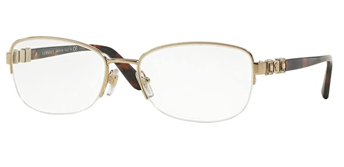 versace ve1230b eyeglass frames 1362 54 pale gold