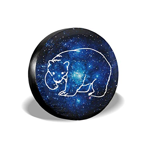 A1LZ-TS3 Sports Fan Tire Covers Polar Bear Universal Spare Wheel Tire Cover Fit for Trailer,RV,SUV and Many Vehicle 15 Inch ()