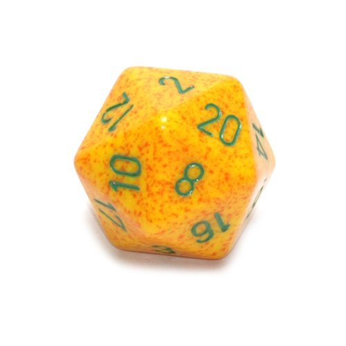 Jumbo d20 Counter - Speckled 34mm Dice: Lotus
