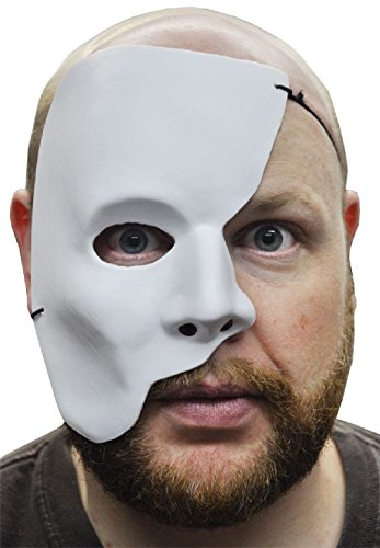 OvedcRay Phantom Of The Opera Half White Mask Mardi Gras Adult Masquerade Men Face -