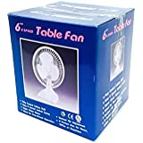 Small 6 Table top Desk Fan, Super Quite motor 6 Inches , 2 speed switch, 120V vertical tilt Adjustment. Home Office desk floor etc (BULK Quantity: 12 Pieces)