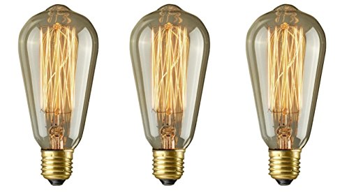 Pack Of 3 60 Watt Light Golden Vintage Filament Edison Style Icicles Light Bulb