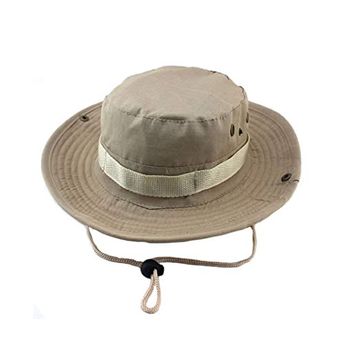 (Unisex Bonnie Bucket Hat Military Camouflage Sun Hat Fishing Barbecue Cotton Climbing Cap Quick Dry Outdoor Visors)