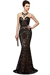 Black Long Sequin Mermaid Dress