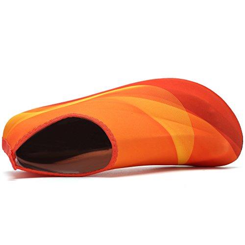 CIOR Männer und Frauen Barfuß Haut Aqua Schuhe Rutschfeste Multifunktionale Wasserschuhe Für Strand Pool Surf Yoga Übung Orange01