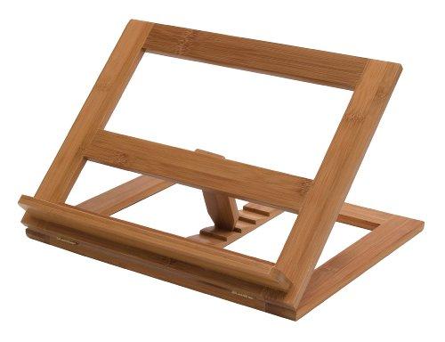 Lipper International 8825 Bamboo Wood Cookbook Holder, 13-1/4