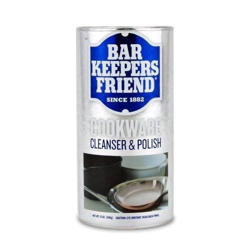 Bar Keepers Friend Superior Cookware Cleanser & Polish | 12-Ounces | 1-Unit - Cleaner Stainless Cookware Steel