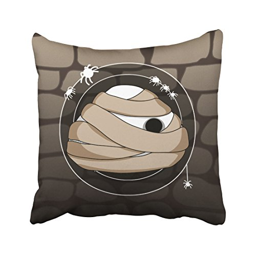Pakaku Throw Pillows Covers For Couch/Bed 18 x 18 inch,Japanese Style Mummy Home Sofa Cushion Cover Pillowcase Gift Decorative Hidden Zipper Design Cotton And Polyester Blended Soft Touch