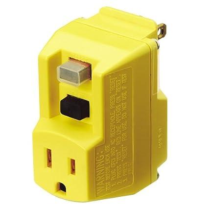 trc southwire 14650013 6 120 volt 15 amp 1800 watts single outlet rh amazon com Ground Fault Interrupter Outlet Ground Fault Circuit Interrupter Plug Won T Reset