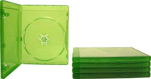 (5) 12mm Replacement Video Game Cases – Translucent Green – Compatible with Xbox One – #VGBR12XONE
