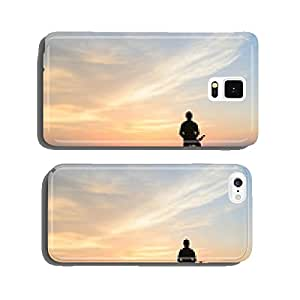 cyclist in the sunset cell phone cover case iPhone6 Plus