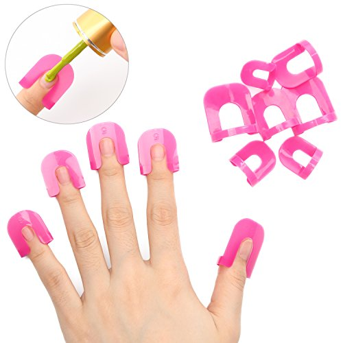 Makartt Spray Nail Polish Stencil with 10 Sizes 26pcs Save Time Save Money No Mess Any More - Finger Paint Nail Polish