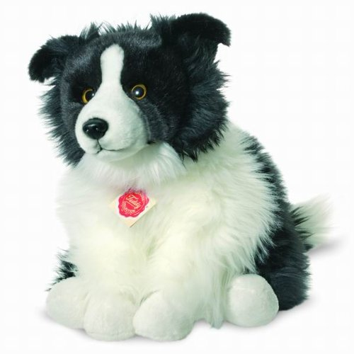 Hermann Teddy Collection 927716 30 cm Border Collie Sitting Plush Toy