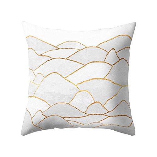 (iYBUIA Special Design Geometric Design Cushion Square Throw Pillow Cover Case)