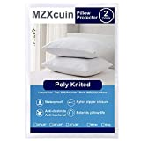 MZXcuin 100% Waterproof Pillow Protectors, [2 Pieces] Premium Bedding Dust Mite Bug Resistant
