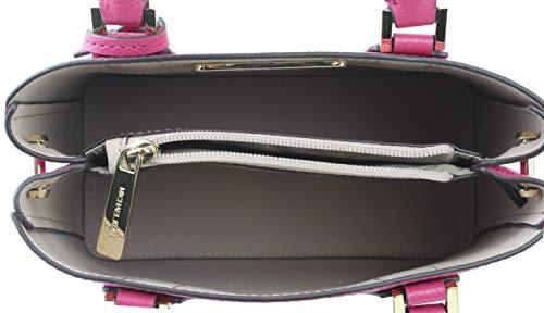 33a0986572fe MICHAEL Michael Kors Women s Adele Ruben Red Hot Pink Mercer Medium  Messenger Bag