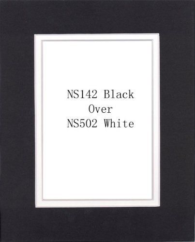 Pack of 50 Black 16x20 Mats for 12x18 Photo + Backing + Bags