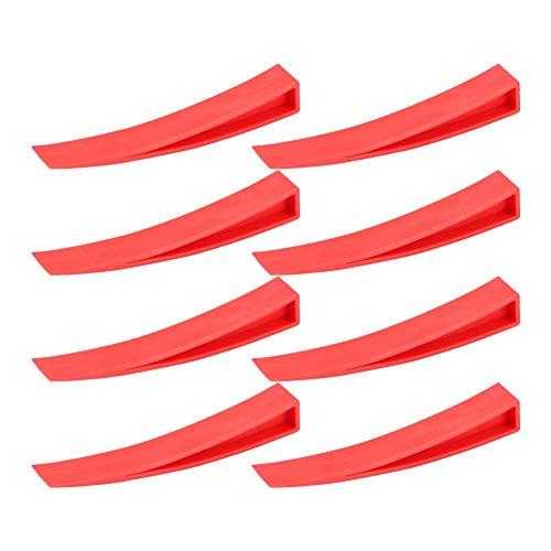 Keenso Red Window Wedge, Plastic Car Door Wedge Car Window Wedge Repair Paintless Dent Repair Tools Unlock Lockout Kit (8pcs)