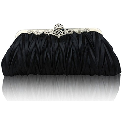 Bag Clutch bismarckbeer Purse Evening Bag Banquet Shoulder Black Women Party Handbag aqqzRZ