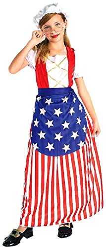 Colonial America Costumes Kids (Forum Novelties Patriotic Party Betsy Ross Costume, Child Medium)