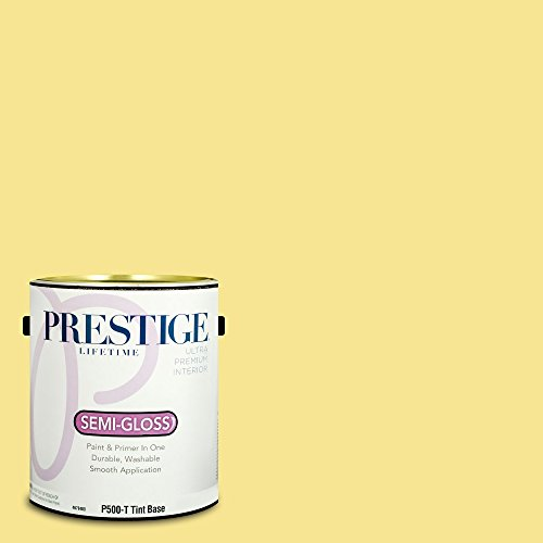 Prestige Paints P500-T-SW6908 Interior Paint and Primer in One, 1-Gallon, Semi-Gloss, Comparable Match of Sherwin Williams Fun Yellow, 1 Gallon,