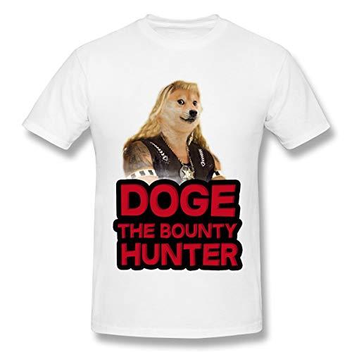 BrocadeCarp Dog Bounty Hunter Beth Chapman Men Cute Shirts Women Loose Short-Sleeved T-Shirt 3XL White -