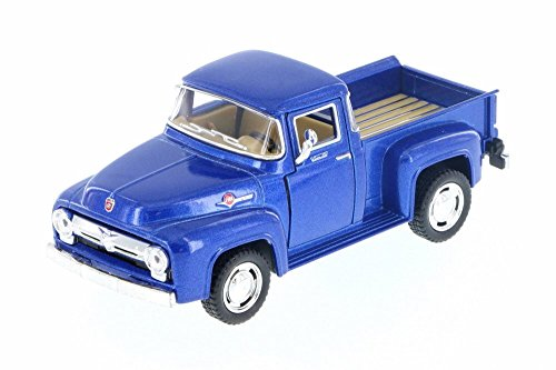 1956 Ford F-100 Pickup, Blue - Kinsmart 5385D - 1/38 Scale Diecast Model Toy Car (Brand New but NO BOX)