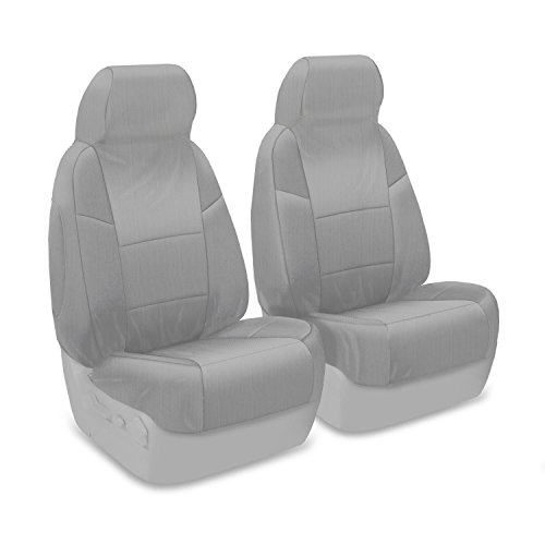 Coverking Custom Fit Front 50/50 Bucket Sport Seat Cover for Select Volkswagen Golf Models - Ballistic (Light Gray)