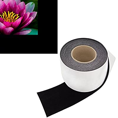 Contrast Boosting Black Border Tape for Projector Screens - Velvet Felt Frame Material (4 Inch Wide x 60 Foot Long Roll) - Premium Grade Flock w/ Adhesive Backing - DIY Craft Kit for Projection Paint