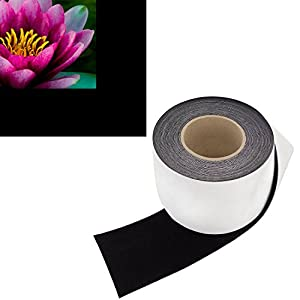 Highest Contrast Projector Screen Tape - Black Velour Felt Material (4-Inch Wide x 60-Foot Long Roll) Cut To Size - Premium Grade w/ Adhesive Backing - DIY Kit for Projection Paint Border Frame