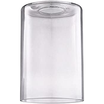 Clear glass shade straight cylinder glass lamp shade replacement clear cylindrical glass shade aloadofball Gallery