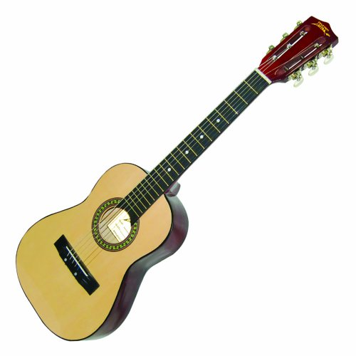 "Large Product Image of Beginner 30"" Classical Acoustic Guitar - 6 String Linden Wood Traditional Style Guitar w/Wood Fretboard, Case Bag, Nylon Strap, Tuner, 3 Picks - Great for Beginner, Children Use - Pyle PGAKT30"