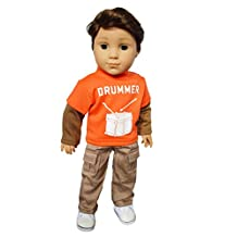 My Brittany's Drummer Outfit for 18 Inch American Girl Boy Dolls- 18 Inch Doll Clothes for Boy Dolls