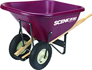 Landscaper's Joy Poly Wheelbarrow - Double Tire