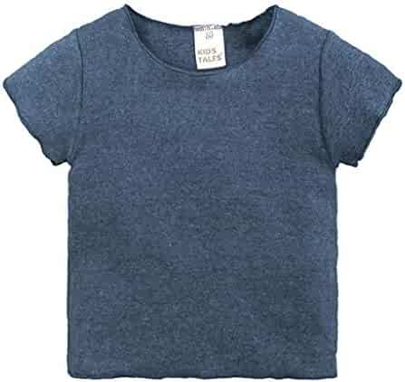 SAKAMU-Children Kid Infant/Letter Shark Print Tops Blouse T-Shirt Outfit Clothes