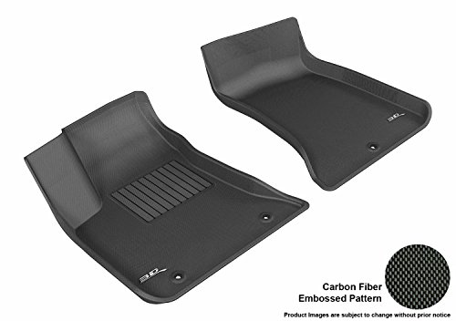 3D MAXpider Front Row Custom Fit All-Weather Floor Mat for Select Dodge Charger/Chrysler 300C Models - Kagu Rubber (Black)