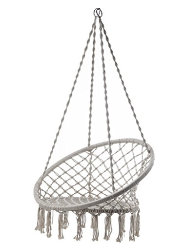 Macrame Swing Max Weight 265 Pounds Adult Children Swing Chair by H-Knoting