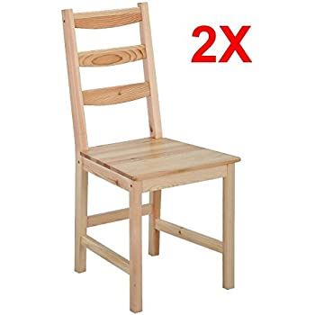 go2buy pair of solid wood dining chairs home ladder back chair set of 2